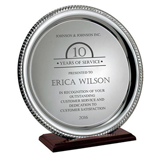 Silver trays engraving